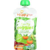 HappyTot Organics Love My Veggies 4 Spinach, Apples, Sweet Potatoes & Kiwi, 120ml