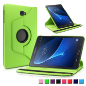 Infiland Samsung Galaxy Tab A 26cm SM-T580 / SM-T585 Tablet Case, 360 Degrees Rotating Stand Cover, Green