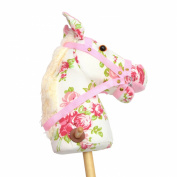 Pink Papaya Hobby Horse, Flower, sweet toy horse made of fabric with neighing and galloping sounds - Colour