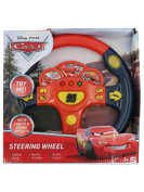 Disney Pixar Cars Red Lightning Mcqueen Toy Steering Wheel With Lights And Sound Effects Multicolour One Size