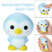 Squishies Slow Rising Penguin Plush, JYC Cute 9cm Cute Penguin Cartoon Scented Squishy Charm Slow Rising Squeeze Toy Charm