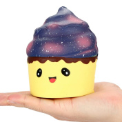 Fat.chot Galaxy Soft Squishy Animal Fruit Skull Star Ice Cream Cute Slow Rising Scented Cartoon Relieves Stress Toy Kawaii Gift for Children and Adult