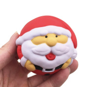 Fat.chot Soft Squishy Christmas Toys Santa Claus Snowman Bear Ball Cute Slow Rising Scented Cartoon Relieves Stress Toy Gift for Children and Adult