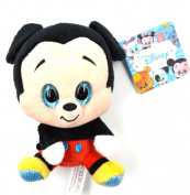 Glities Disney Mickey Mouse Plush Stuffed with Sparkling Glitter Big Eyes