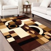 Allstar Dark Brown Area Rug. Contemporary. Abstract. Traditional. Geometric. Formal. Shapes. Squares