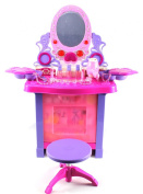 Royal Princess Pretend Play Battery Operated Toy Beauty Mirror Vanity Play Set w/ Flashing Lights, Music, Accessories