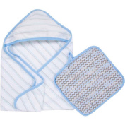 MiracleWare Muslin Cotton Hooded Towel and Washcloth Set
