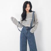 Fashion All Match Bib Slim Slimming Jeans , light blue , l