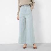 Fashion Women 's Trousers Light Slim All Match Jeans Wide Leg Pants , blue , l