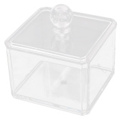 Unique Bargains Clear Acrylic Cotton Pads Lipstick Cosmetic Storage Holder Organiser Jewellery Box