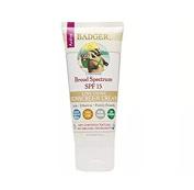 Badger Zinc Oxide Sunscreen Cream SPF 15 Unscented 90ml