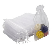 """100 PCS 10X15CM (4X6"""") Drawstring Organza Jewellery Pouches Wedding Party Festival Favour Gift Bags Candy Bags"""