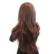 Fulltime(TM) Womens Girls Fashion Wavy Curly Long Hair Human Full Wigs Hairnet