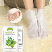 Hunpta Olives Hot Remove Dead Skin Foot Mask Peeling Cuticles Heel Feet Care Anti Ageing