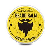 Beard Balm Leave-in Conditioner - All Natural -Vegan Friendly Organic Oils And Butters Moustache Wax : Extra Strength, Firm Hold
