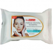 BioMiracle Collagen Q10 Makeup Cleaning Towelettes, 30 sheets,