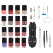The Colour Workshop Incredible Nails Nail Polish Salon Gift Set, 30 piece