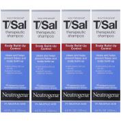 4 Pack Neutrogena T/Sal Therapeutic Maximum Strength Shampoo 130ml Each