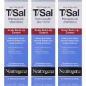 3 Pack Neutrogena T/Sal Therapeutic Maximum Strength Shampoo 130ml Each