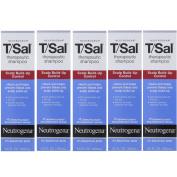 5 Pack Neutrogena T/Sal Therapeutic Maximum Strength Shampoo 130ml Each