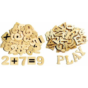 Chenille Kraft Wood Craft Letters and Numbers, 3.8cm , Natural Wood, Pack of 200