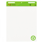 3M Self-Stick Easel Pad, Adhesive Back, 60cm x 80cm , 30 Sheets, 2 Pad/Count, White