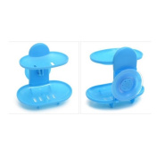1PC Two Layer Suction Soap Holder Bathroom Accessories Soap Dish Storage Basket Soap Box Stand Holder