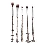 Newest Vander 5pcs makeup brushes Harry Potter Magic Silver Makeup Brushes Set