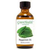 Peppermint Essential Oil - 2 fl oz (59 ml) Glass Bottle w/ Cap - 100% Pure Essential Oil by GreenHealth