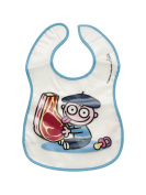 White PEVA Bib With The Drawing of a Baby and a chuletón katuki saguyaki