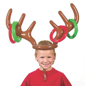 Bluelans Funny Inflatable Reindeer Antler Hat Ring Toss Christmas Party Game Toy Gift