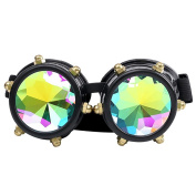 Bluestercool Kaleidoscope Colourful Glasses Rave Festival Party EDM Sunglasses Diffracted Lens