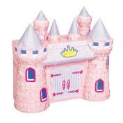 Unique Party Pink Princess Castle Design Pinata (One Size)