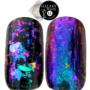 Galaxy Beauty Transparent Chameleon Nail Sequins Flakes Foil Broken Glass Effect Shining Cloud Powder 7 Different Colours