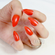 EchiQ Bright Red False Nails Stiletto Nails Sexy Red Acrylic Nail Tips Artificial Pointed Fake Nails New Full Cover