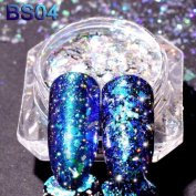 Magic Mirror Nail Art Glitter Reflective Flakes Powders Sequins Manicure Beauty Decorations DIY Design Aluminium Chrome Dust Accessory - Mumustar