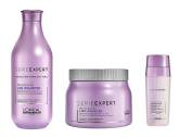 L'Oreal Serie Expert Liss Unlimited Pro Keratin Shampoo 300ml, Masque 500ml and SOS Smoothing Double Serum 30ml