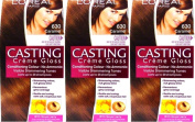 SIX PACKS of L'oreal Casting Creme Gloss 630 Caramel