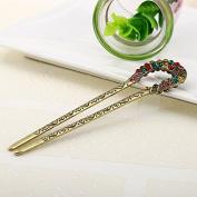 U-shaped Hair Pins Stick Crystal Antique Fork Hairpin hair Sticks, hair Chopsticks, wedding Hair Jewellery 2ps/package …