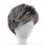 Ms. Short Straight Hair Props Wigs Show Headdress