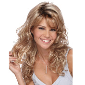 Female Curly Hair Wig Set Of Gold Long Hair