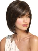 European And American Fashion Lady Short Straight Hair Wig Hood