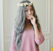 Wig Long Curly Corn Hot Big Wave Korean Air Bangs Simulation
