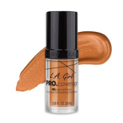 (3 Pack) L.A. Girl Pro Coverage Illuminating Foundation - Tan