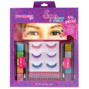 Expressions Girl Eye Art 16-Piece Set - Party Lashes, Glitter Eye Shadow, Eye Tattoos & Gems