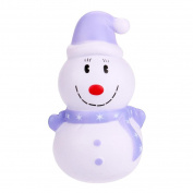 12cm Christmas Snowman Scented Squishy Squeeze Toys Jaminy Christmas Snowman Slow Rising Phone Straps Decompression Toy Christmas Gift