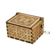 XXYsm Mini Music Box Engraved Wooden Music Box Xmas Toys