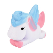 New awaii Unicorn Squishy Slow Rising Cartoon Doll Santa Gift Present Elastic Environmentally PU Claus Stress Relief Toy ,Yannerr Fun Ghost Skull Scented Squishy Charm Slow Rising 10cm