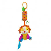Baby Hanging Puppet, BuycheapDG Baby Hanging Handbells Toys Baby Bed Crib Cot Pram Stroller Pushchair Baby Hanging Toys with Bell Baby Plush Toy Infant Cartoon Animal - Lion