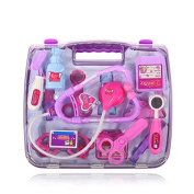 Doctor Set BIGWING Style Childrens Kids Doctors Kit Pretend Play 14pcs Medical Toys Set Durable Gift Case Doctor Toys for Girls Boys and Toddlers-Purple